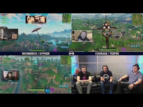 NICKMERCS & Sypher Vs CouRage & TeePee | Friday Fortnite Week 2 | Losers Round 1