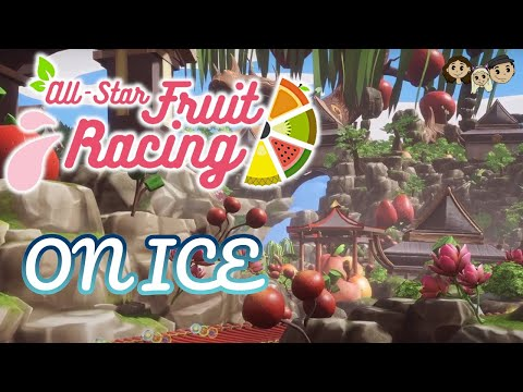 All Star Fruit Racing Gameplay #6 : ON ICE   3 Player  