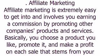 Affiliate Marketing Small Business Ideas लघु व्यवसाय परियोजनाओं
