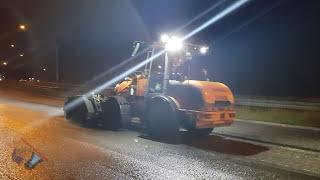 SWEDEN HIGH-TECH ROAD CONSTRUCTION SKANSKA + WIRTGEN MILLING MACHINE resurfacing asphalt!
