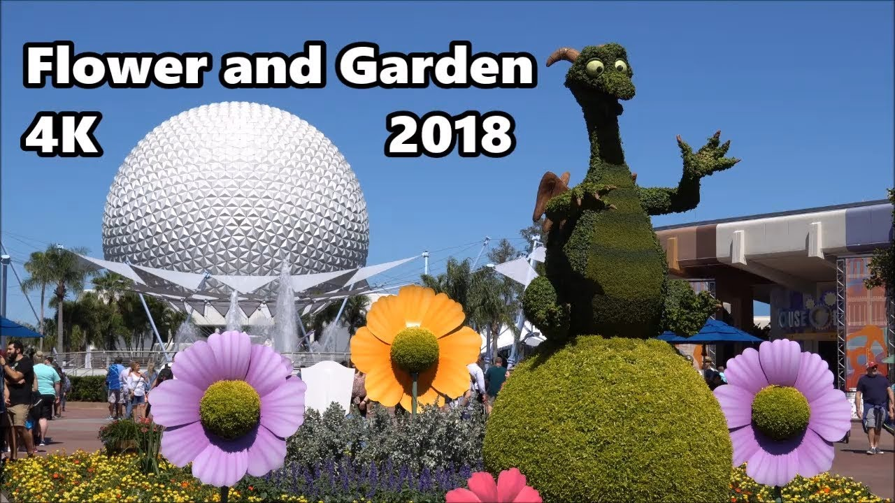 epcot flower and garden festival 2018 tour in 4k uhd | new camera!!