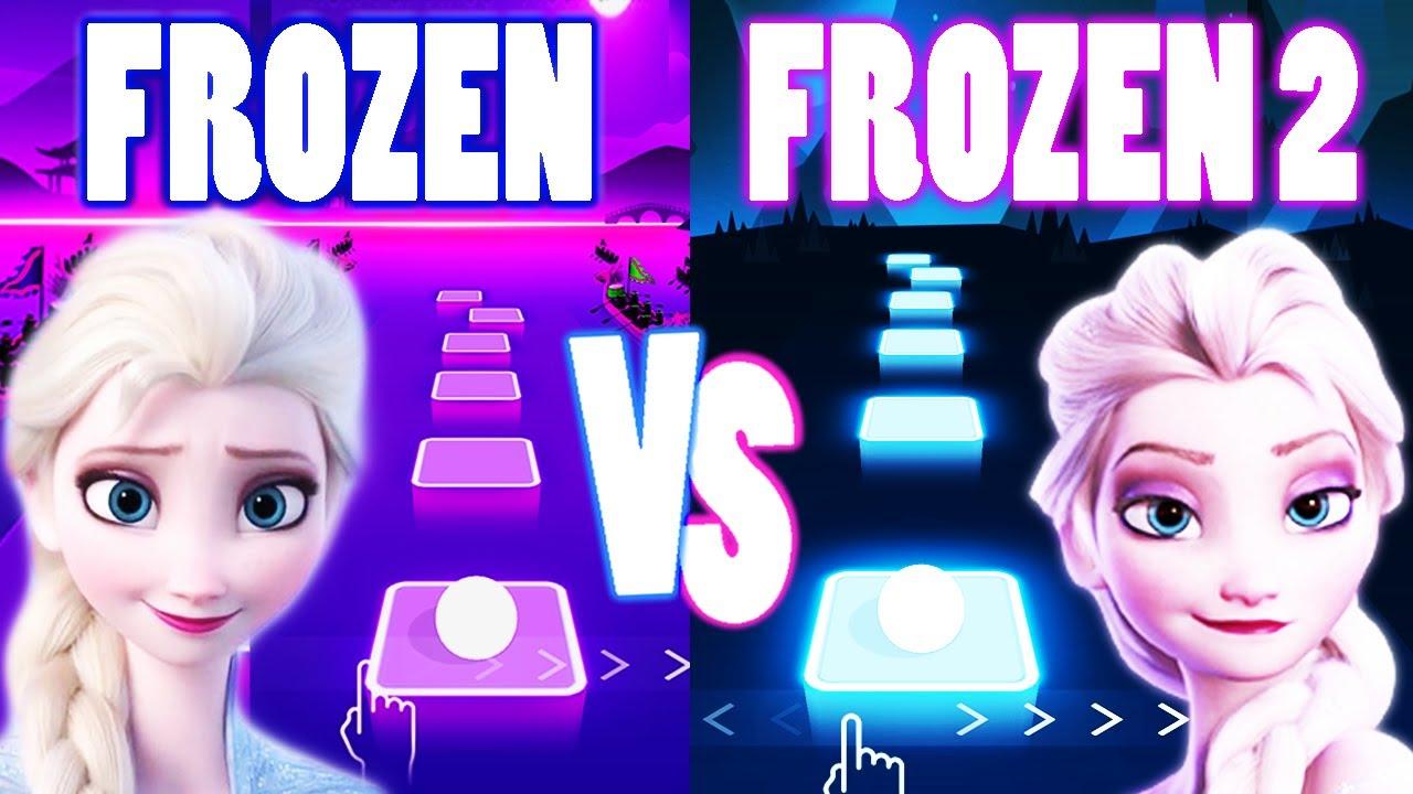 Download Let It Go Frozen Song VS Into The Unknown Frozen 2 - Tiles Hop EDM RUSH!