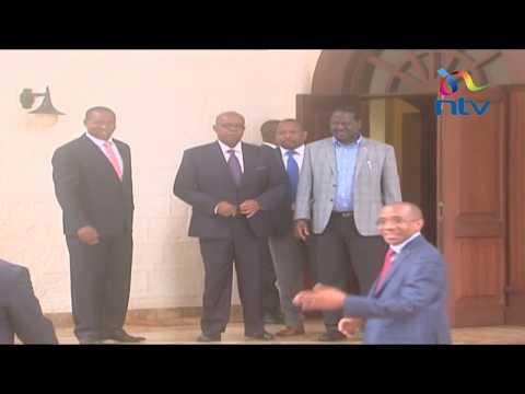 3 governors present at the Raila - Kibaki meeting