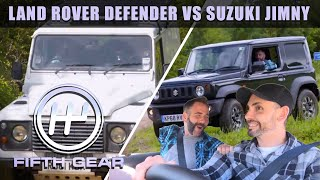 Land Rover Defender VS Suzuki Jimny - the off road test | Fifth Gear