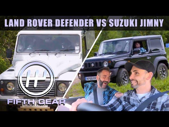 Land Rover Defender VS Suzuki Jimny - the off road test | Fifth Gear
