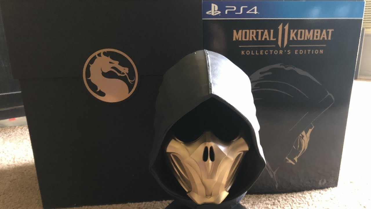 Mortal Kombat 11 Ps4 Xbox One Kollectors Unboxing Scorpion Mask