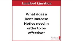 3 things a Rent Increase Notice requires