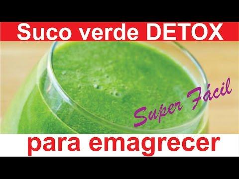 receita suco verde detox para emagrecer