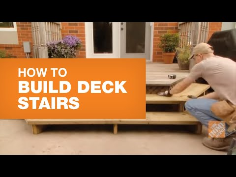 How To Build Stairs To A Deck Youtube