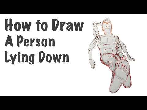 How To Draw A Person Lying Down (view From Feet)
