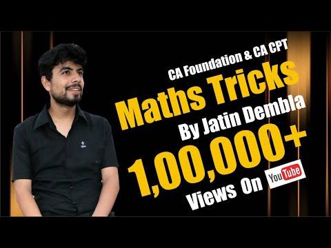 Maths Tricks CA-CPT PART-1 | QA CA-CPT