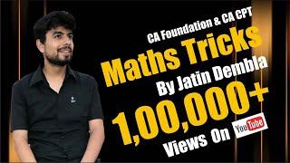 maths tricks ca cpt part 1
