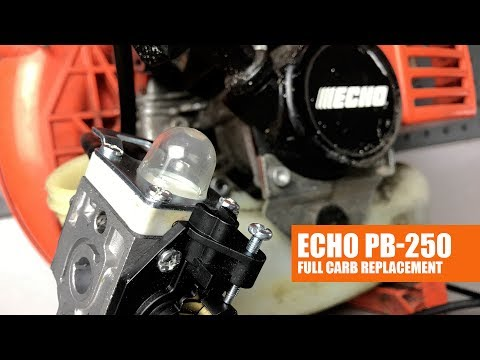 How To Replace The Carburetor On The ECHO PB-250 Blower | Full Video