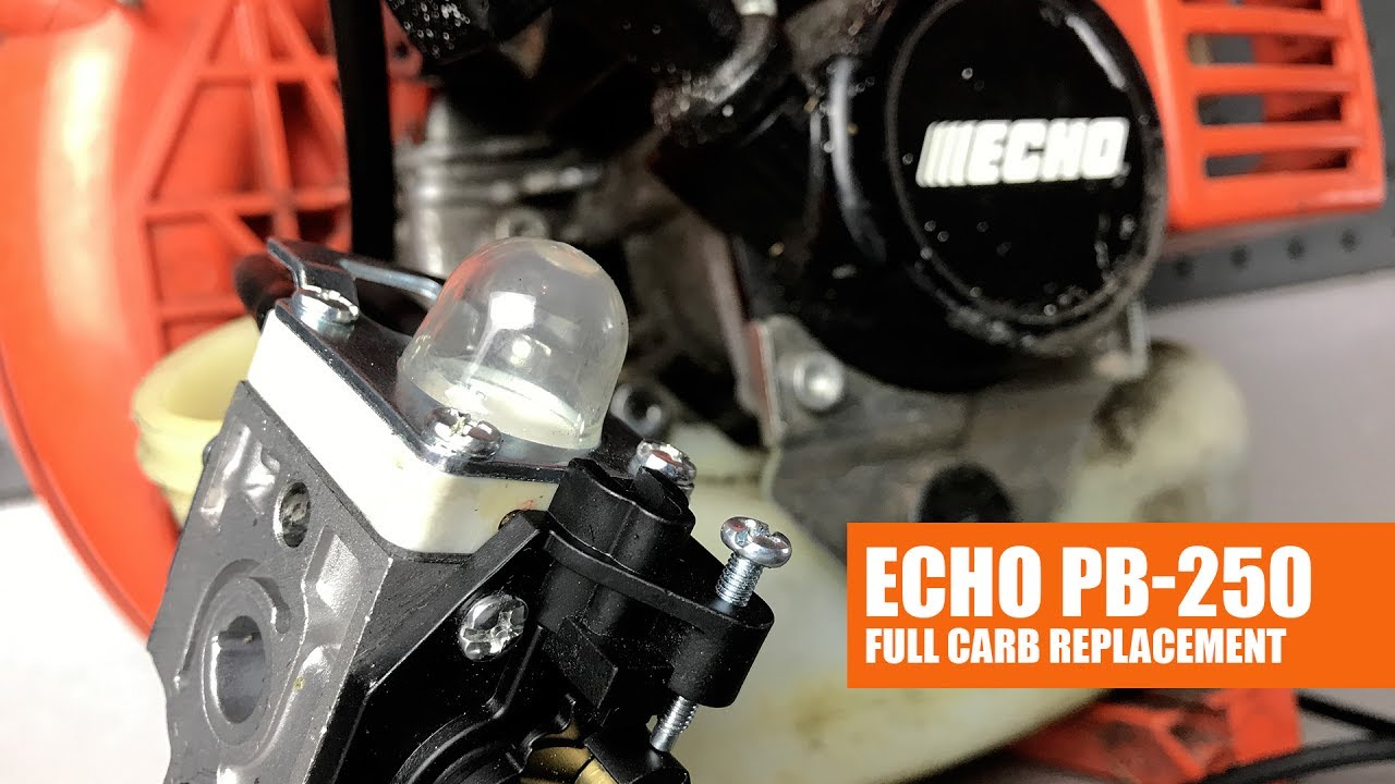 How To Replace The Carburetor On Echo Pb 250 Blower Full Video Walbro Carb Fuel Line Diagram Car Tuning