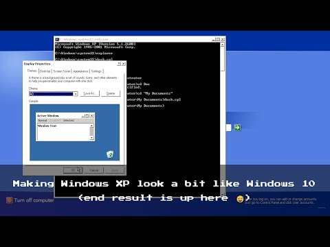 How To Make Windows XP Look Like 10 (No Third-party Software)