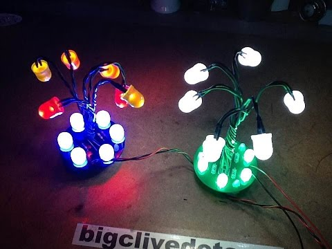 LED snowdrop light project with downloadable PCB file.
