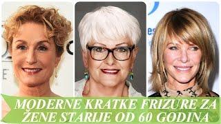 Moderne kratke frizure za žene starije od 60 godina
