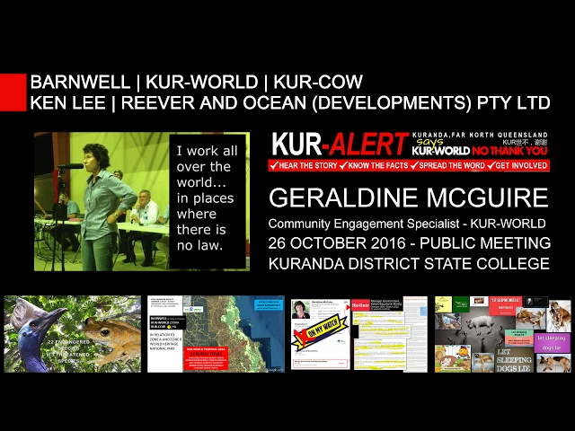 KUR-World, KUR-Cow, BARNWELL: Geraldine McGuire: countries where there is no law