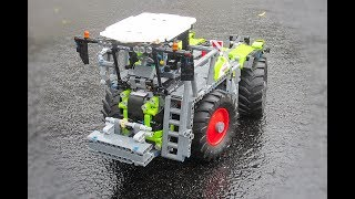 Lego Technic CLAAS Xerion 5000 Saddletrac + Lawn Mower Attchment! | 42054 C Model
