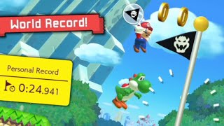 I got the WORLD RECORD on Nintendo's Ninji Speedrun