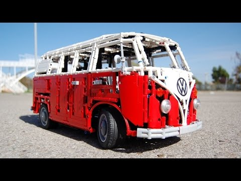LEGO Volkswagen Type 2 T1, HIPPIE VAN FULL REMOTE CONTROLLED! by Sheepo