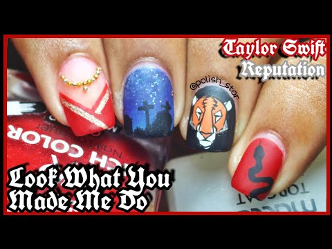Taylor Swift's Look What You Made Me Do Inspired Nail Art | Reputation | Polish Star