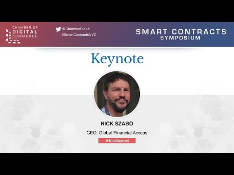 Nick Szabo - Keynote - Smart Contracts Symposium