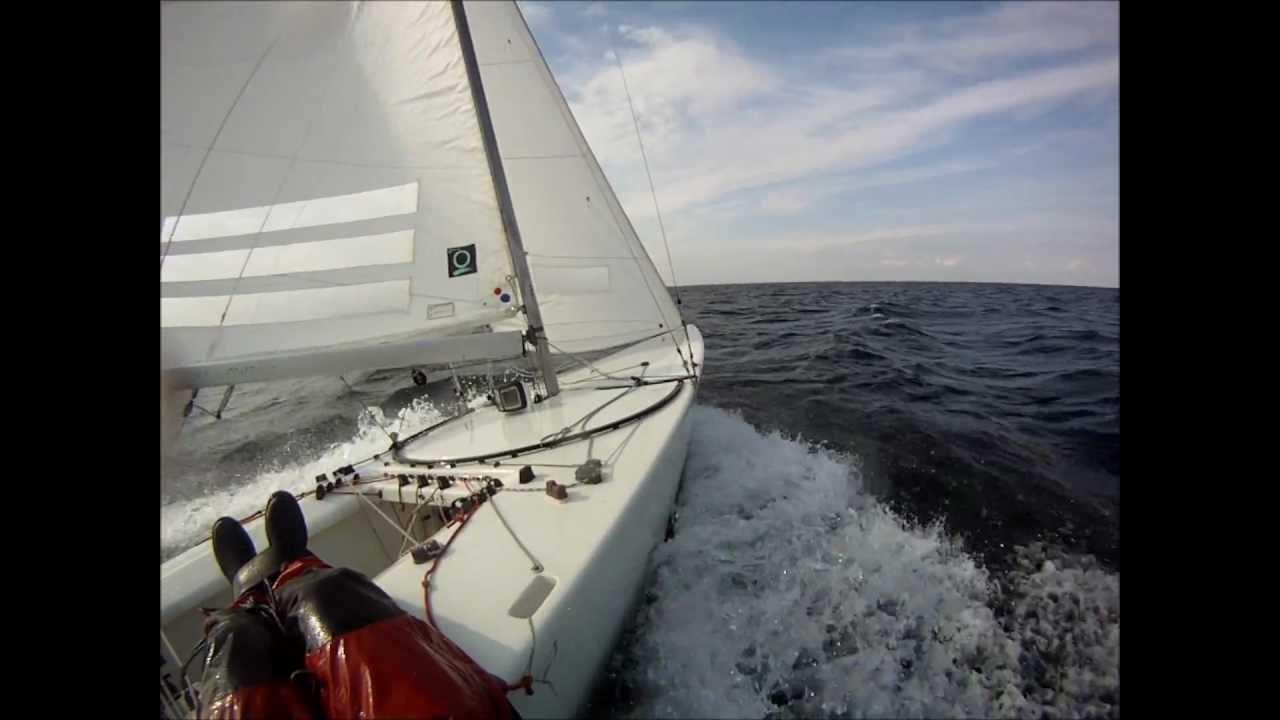 Fast starboat sailing öresund ...
