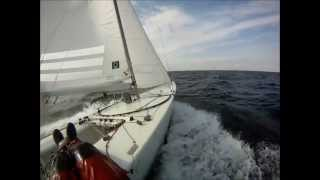 Fast starboat sailing öresund Sweden