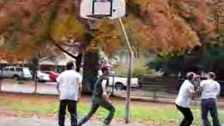 What happens 40 year old guys playing basketball