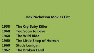 Jack Nicholson Movies List