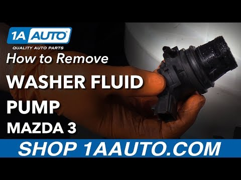 How to Replace Washer Fluid Pump 03-09 Mazda 3