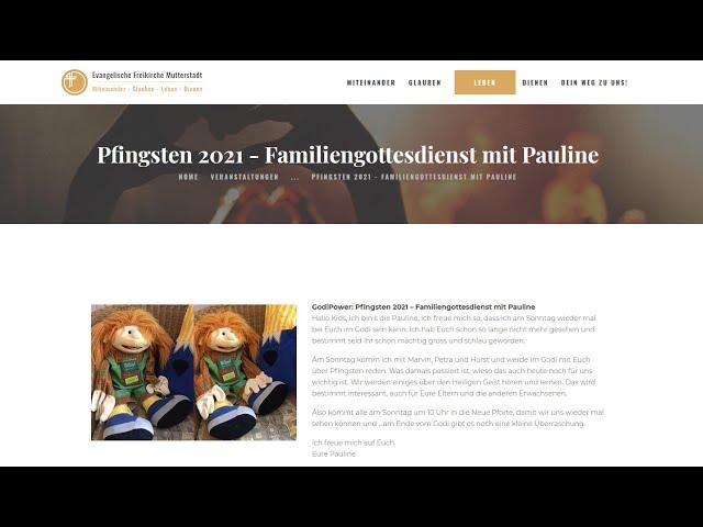 Pfingsten 2021 mit Pauline - Familiengottesdienst aus Mutterstadt