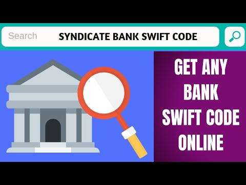 Syndicate Bank Swift Code   How To Find Swift Code Of Any Bank