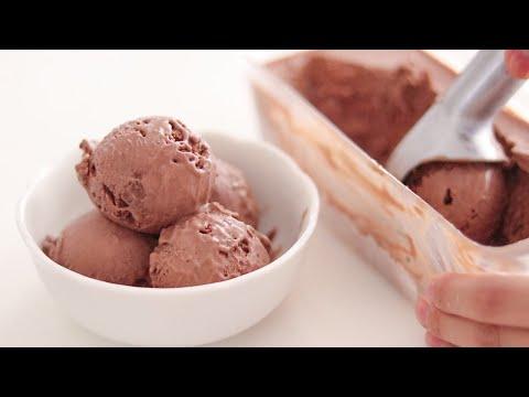 濃厚チョコレートアイスクリームの作り方 Homemade chocolate Ice Cream|No egg, No Icecream-machine|HidaMari Cooking