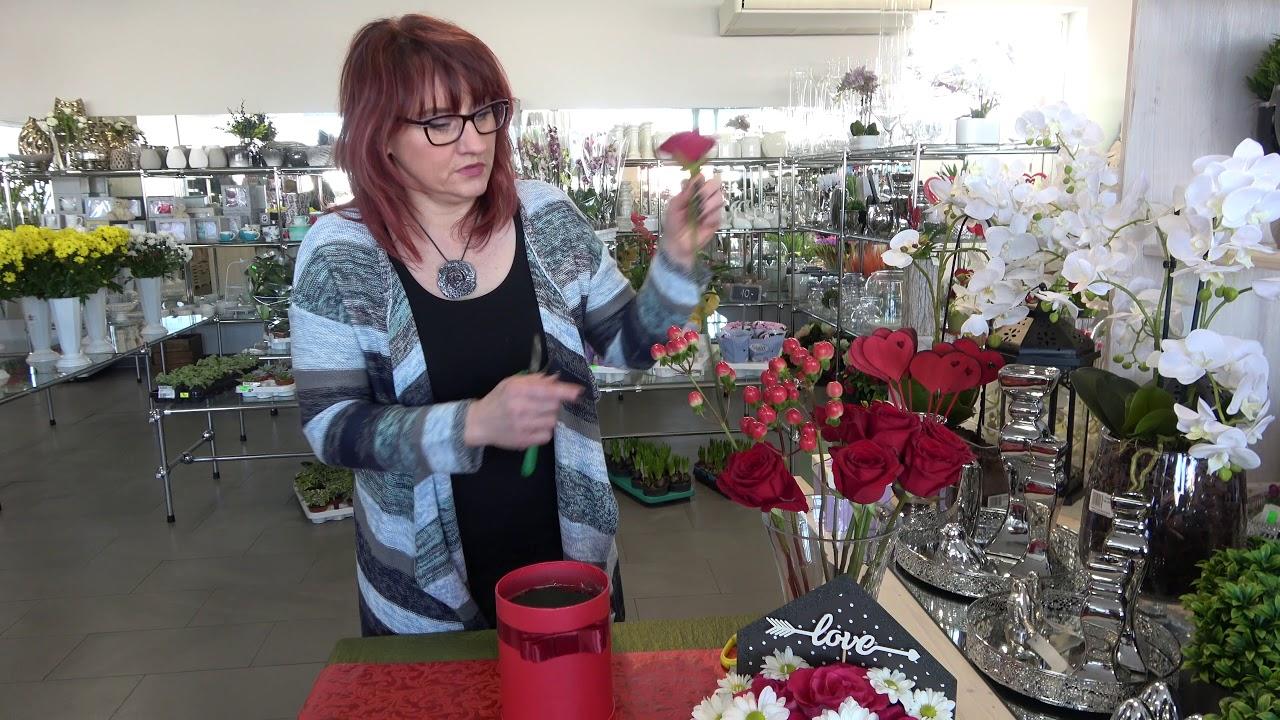 Jak Zrobic Flowerbox Pudelko Z Rozami Dla Ukochanej Osoby Z Okazji Walentynek Youtube