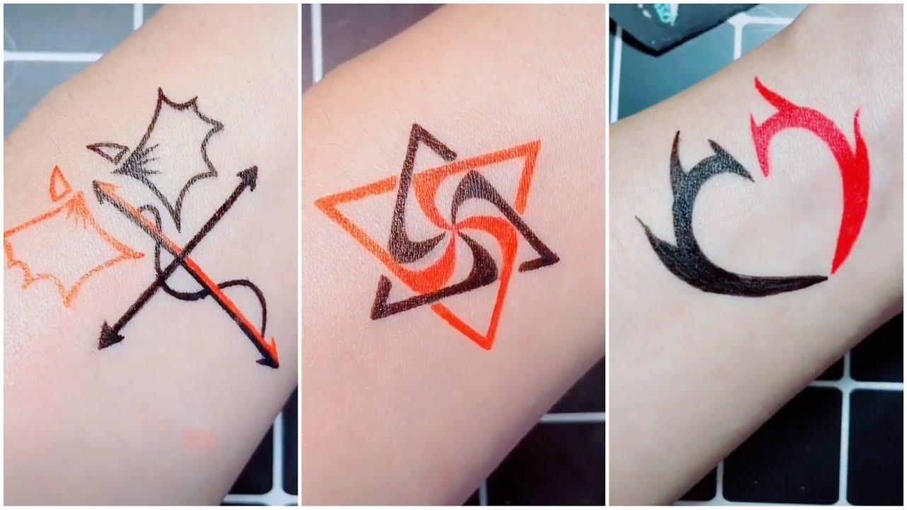 Vẽ hình xăm tay bằng bút bi đẹp, dễ thương | Hand tattoo with pen #1 | Tóm tắt các thông tin nói về những hình xăm tay đẹp chi tiết nhất