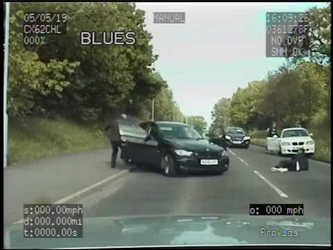 Police Dashcam - End Of Pursuit On Ruthin Road Wrexham