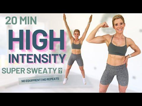 20 MIN CALORIE KILLER HIIT Workout No Equipment No Repeats Super Sweaty