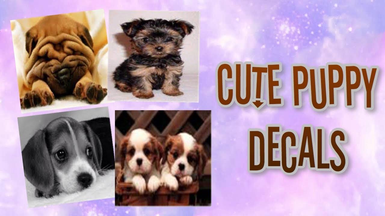 Roblox Bloxburg Cute Puppy Decal Id S Youtube