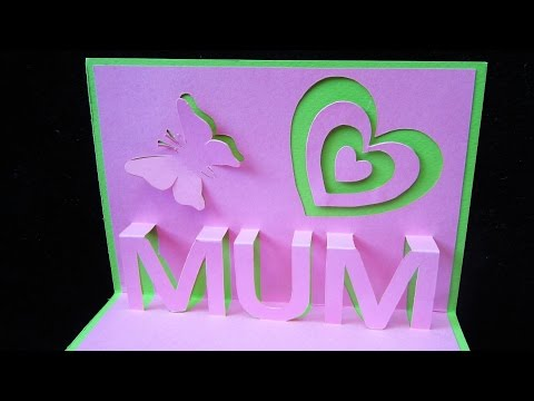 Mother's day pop up card - learn how to make a popup card as a gift for mum (mom) - EzyCraft