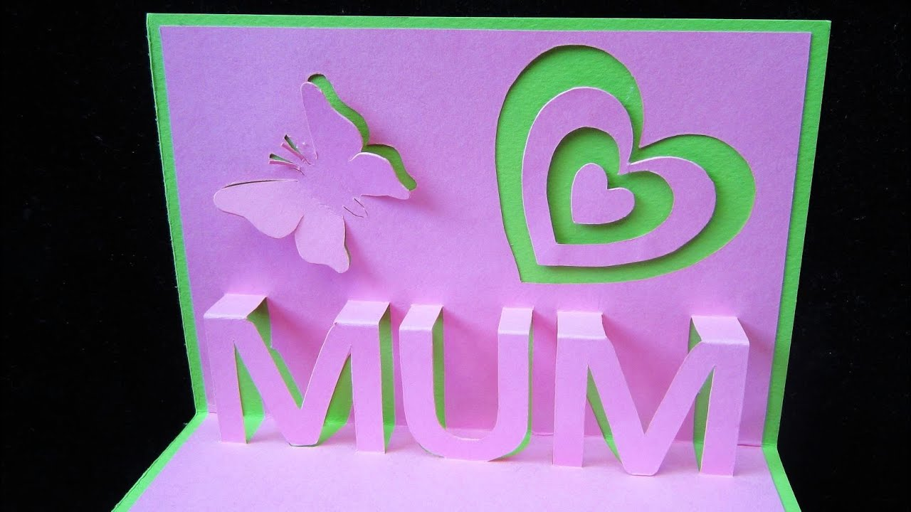 mother u0027s day pop up card learn how to make a popup card as a