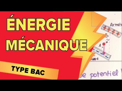 Energie Mécanique, Cinétique et Potentielle - Exercice Type Bac - Mathrix