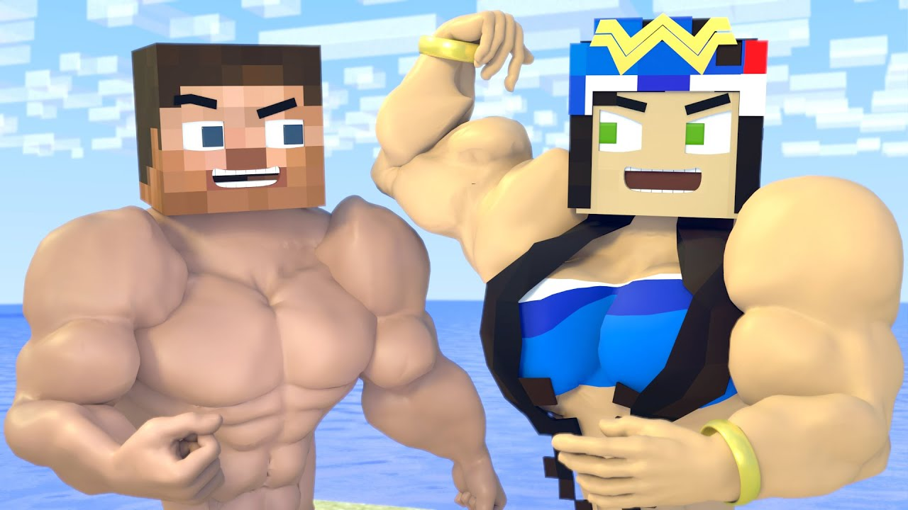 The minecraft life of Steve and Alex |  Muscular Story | Minecraft animation
