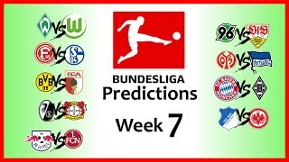 2018-19 BUNDESLIGA PREDICTIONS - WEEK 7
