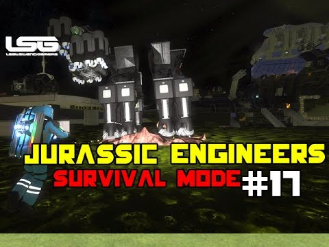 Space Engineers - Jurassic Engineers Drill Ships - Part 17