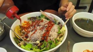 Vegetarian Korean Food (Bibimbap - 비빔밥): Healthy Korean Mixed Rice in Seoul, Korea