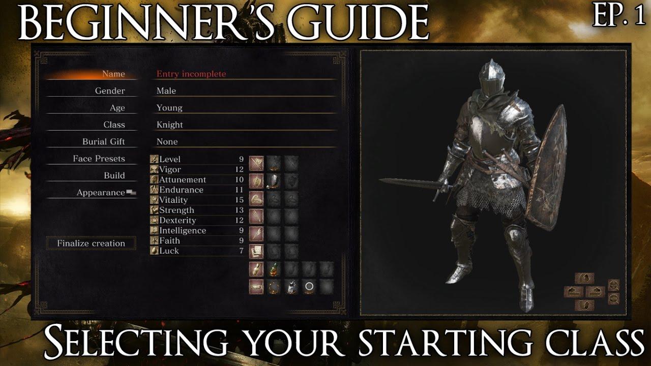 Dark Souls 3 Beginner's Guide: Selecting your starting class ...