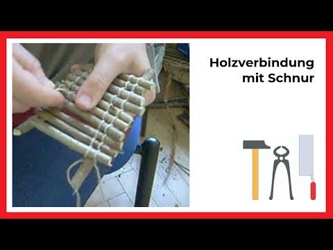 arbeiten mit holz in der kita: holzverbindung mit schnur - youtube, Moderne