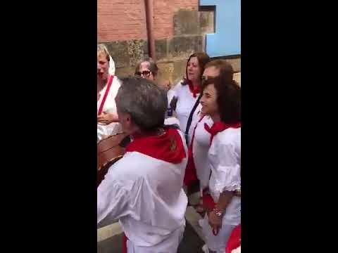 """SAN FERMINES 2019 """"Un charro en San Fermin""""junto a los  Auroros de Berbinzana"""